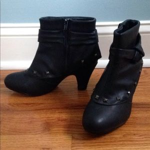 Rampage studded black ankle boots